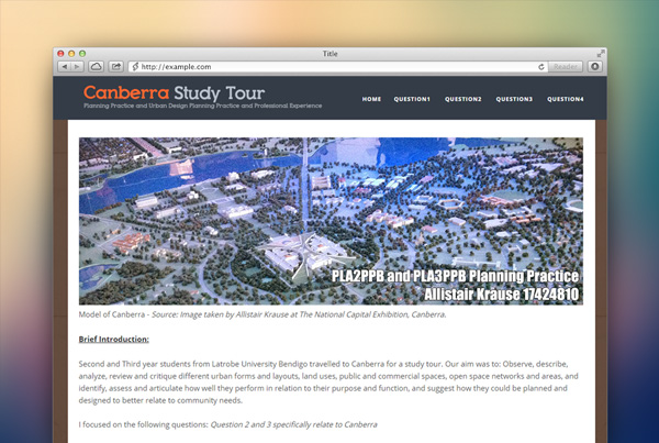 Canberra Study Tour